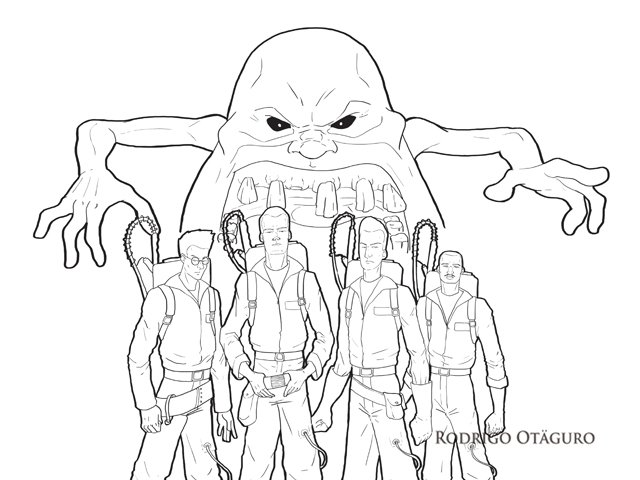 Ilustração digital - Ghostbuster