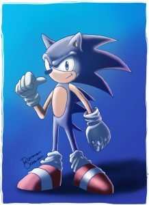 Sonic - feito por Rodrigo Otäguro